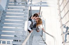 Cool engagement shot. Love the perspective