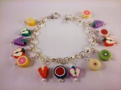 Hey, I found this really awesome Etsy listing at https://www.etsy.com/listing/198419385/charm-bracelet-fruity-charm-bracelet
