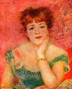 Pierre-Auguste Renoir, Portret Jeanne Samary, 1877