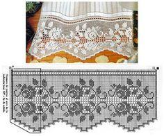 Home Decor Crochet Patterns Part 16 - Beautiful Crochet Patterns and Knitting Patterns Crochet Lace Edging, Crochet Borders, Love Crochet, Irish Crochet, Beautiful Crochet, Crochet Doilies, Knit Crochet, Filet Crochet Charts, Crochet Diagram