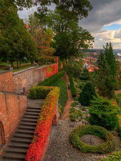 The Gardens Of Prague Castle, Czech Republic.