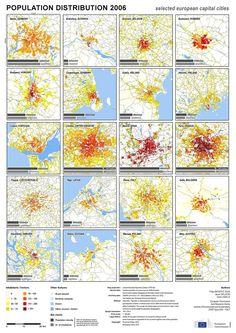 Population distribution (European capital cities) 2006