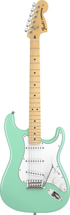 Fender American Special Stratocaster Surf Green When I finally get a Strat - This is it! Fender American Deluxe Stratocaster, American Special Stratocaster, Fender American Special, Stratocaster Guitar, Music Guitar, Guitar Amp, Cool Guitar, Ukulele, Paul Reed Smith