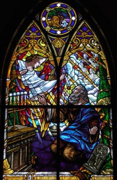Gorgeous stained glass windows at Saints Anne & Joachim Catholic Church, Fargo, North Dakota