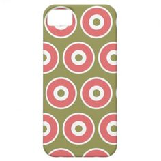 Light and Sweet Tan Coral Circle Pattern iPhone 5 Case