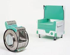 Dos sillas de una lavadora