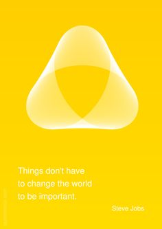 Things don't have to change the world to be important. –Steve Jobs #change #importance http://quotemirror.com/s/55ust