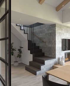 Inventive Staircase Design Tips for the Home – Voyage Afield Home Stairs Design, Bungalow House Design, House Front Design, Home Room Design, Small House Design, Dream Home Design, Modern House Design, Modern Interior Design, Stair Design
