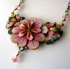Victorian Bouquet Necklace. $30,00, via Etsy.