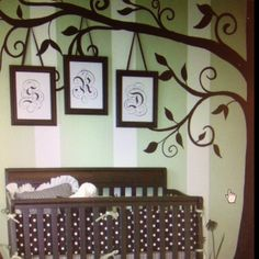 Love the tree for a baby room