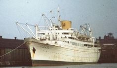 (C) RMMV AUREOL 1951-74, MV MARIANNA VI 1975 - 2001. She is shown here in Liverpool in April 1971. It is interesting to note that she spent over half of her fifty years as an accommodation ship (1975-1990) or laid up (1990-2001). It is said that right to the end she looked well found; as indeed she should as the last of the West African mailboats.