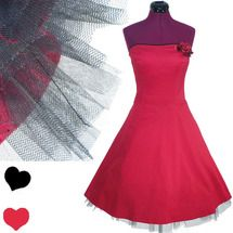 Retro Ruby Rox Red Black Tulle Dress S