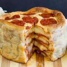 It's National Eat What You Want Day.  In other words you HAVE TO TRY THIS. ;) #eatwhatyouwant #pizza #cake #cheese #pepperoni #pizzacake #food #recipe #foodpics #instafood #bake