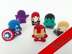 PDF Pattern for Crocheted Avengers Miniature por LouiesLoops