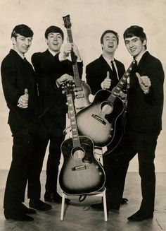 """The Beatles a pop and rock group from Liverpool, England, consisting of George Harrison, John Lennon, Paul McCartney, and Ringo Starr. Remembered for the quality and stylistic diversity of their songs (mostly written by Lennon and McCartney), they achieved success with their first single """"Love Me Do"""" (1962) and went on to produce albums such as Sergeant Pepper's Lonely Hearts Club Band (1967)."""
