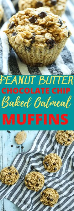 These Peanut Butter Chocolate Chip Baked Oatmeal Muffins are breakfast perfection! The kids love them, the husband loves them, everyone in the whole family loves this healthy and easy breakfast recipe! Gluten free dairy free and so quick and easy. Great idea!