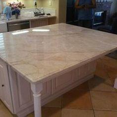fantasy brown quartzite kitchen countertop w/ straight edge