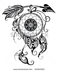 Ilustration of dream catcher