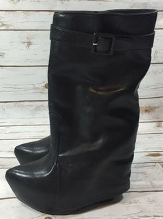 Jeffrey Campbell Zubby Black Platform Wedge Boots Womens Size 11 | eBay Black Platform Wedges, Club Shoes, Wedge Boots, Jeffrey Campbell, Footwear, Best Deals, Shopping, Ebay, Women