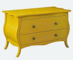Cômoda charmosa amarela .