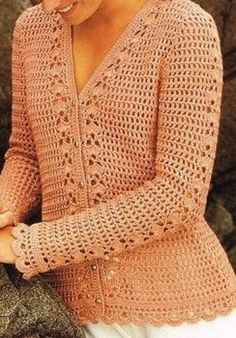 ♥´¨) ¸.•´ ¸.•*´¨)¸.•*¨) (¸.•´ (¸.•`♥ Instant Download! Bring out your Goddess! Crochet Summer Cardigan Sweater Pattern Sizes: To Fit Bust : 30, 32, 34, 36, 38, 40 inches Actual Measurement: 34, 36 ¼, 38, 40 1/2, 41 3/4, 44 In Full Length (approximately): 23 ¼, 23 ¾, 24, 24 ½, 24 ¾, 25 ¼ In Sleeve Length: 16 ½, 16 ½, 17, 17, 17 ¼, 17 ¼ in Materials: Cascade DK weight yarn 3.00 mm (UK 10) US D/3 Crochet Hook 4.00 mm (UK 8) US F/5 Crochet Hook ~~~~THIS PATTERN IS ... Crochet Cardigan Pattern, Crochet Jacket, Crochet Stitches Patterns, Crochet Blouse, Crochet Long Sleeve Tops, Crochet Woman, Crochet Clothes, Sweater Cardigan, Summer Cardigan