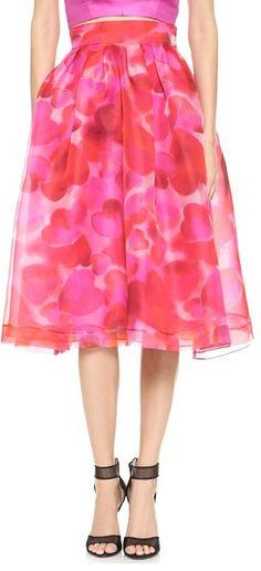 V-day skirt by Monique Lhuillier
