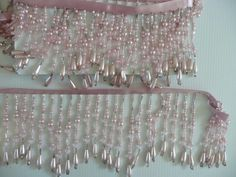 Beaded Fringing Pink Pearl Med