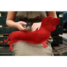 Dachshund bag in red