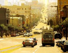 Cityscapes:  San Francisco.  Midday Haze in Yellow, by artist Jeremy Mann.