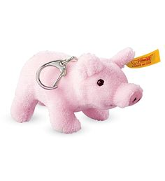 Now this precious Steiff piglet is small enough to carry everywhere! This soft plush key ring is a wonderful decorative adornment for backpacks, purses, or a keychain. It makes a wonderful addition to any collection. Made in Germany. Recycling For Kids, Little Pigs, Key Rings, Dinosaur Stuffed Animal, Pig Stuff, Dolls, Giveaways, Holiday Ideas, Fun