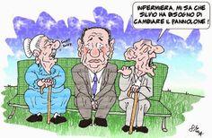 """ITALIAN COMICS - Odissea nell'Ospizio 2: Berlusconi ai servizi sociali: """"l'umor variabile"""" degli ospiti del Centro anziani…"""