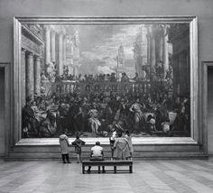 kafkasapartment: Children in the Louvre, Paris, 1957. John Gutmann. Gelatin silver print