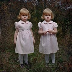 twins in pink