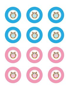 Repeat Crafter Me: Owl Cupcake Toppers - FREE Printable!