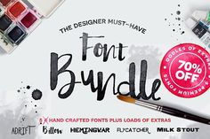 Hand Drawn Font Bundle - OFF. Perfect for creating logos, typography, and prints with that hand-drawn aesthetic, the Hand Crafted Font Bundle is filled with everything you need to do get the job done! Hand Drawn Fonts, Hand Lettering, Texture Web, Ink Splatter, Design Typography, Cool Fonts, Awesome Fonts, Fun Fonts, Pretty Fonts