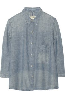 Rag & bone Cotton-chambray shirt | NET-A-PORTER