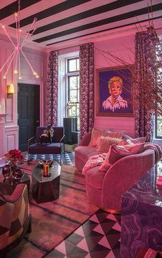 Holiday House Living Room by Antonino Buzzetta Design Retro Interior Design, Dream Apartment, Aesthetic Room Decor, Dream Home Design, Dream Rooms, House Rooms, House Styles, Bradley Theodore, Maximalism