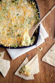 Baked Hummus & Spinach Dip