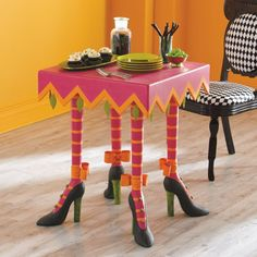 Patience Brewster Halloween High Heeled Table