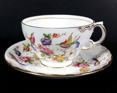 Vintage Tea Cup and Saucer Lawley Shape Pattern M156 by MysticLily