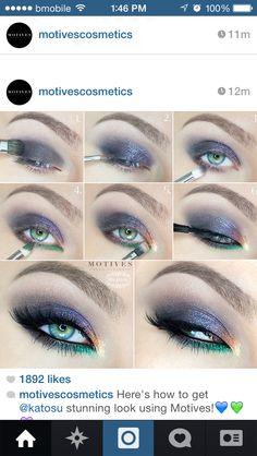 Peacock eyes tutorial.