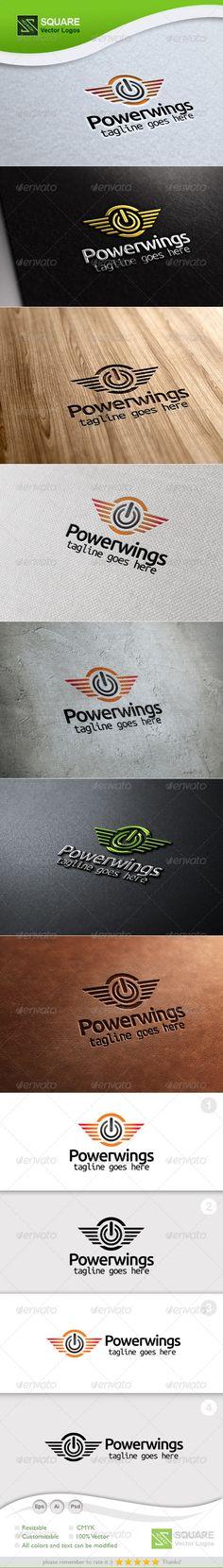 Power, Wings Vector Logo Template