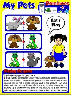 My Pets - Set of Dominoes (Directions)