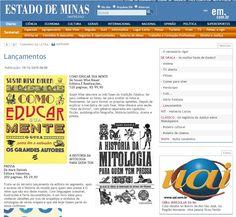 O Estado de Minas newspaper   #books #book #readers #history #culture #livros #livro #leitura #história #cultura #publishing #PR #editorial