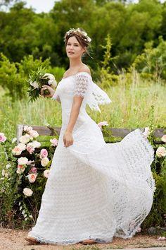 Modelos de vestidos para bodas campestres