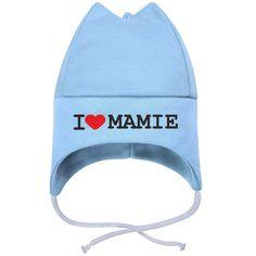 31b9eba52cda Bonnet bébé avec inscription   I LOVE MAMIE (7 couleurs au choix)