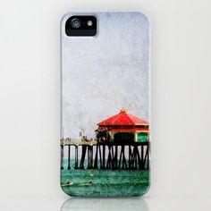 iPhone Case Huntington Beach Pier iPhone Hard Case, Pier, Beach, Ocean,California Photography on a Custom Apple iPhone Case. $45.00, via Etsy.