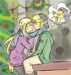 wondyworld: It's December…..so why not?… Had the mighty need to draw HW Zelink. Enjoy, my Zelink Compadres.