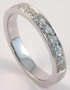 The Wedding Band Shop – Wedding Rings Dublin Ireland: Half Eternity Diamond Wedding Ring #diamondrings
