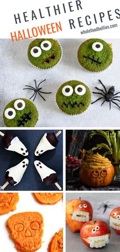 Plan on whipping up all kinds of Healthy Halloween treats for the kids; no refined sugar or food coloring required. My favorite healthier Halloween alternatives to get you in the mood. Halloween Home Decor, Holidays Halloween, Halloween Crafts, Happy Halloween, Halloween Ideas, Halloween Decorations, Healthy Halloween Treats, Halloween Snacks, Halloween Party
